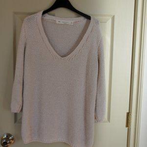Zara Knit Beige Sweater - Size S